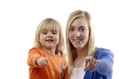 Teenage girl and toddler Stock Photography
