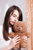 teenage girl with  toy Royalty Free Stock Photos