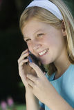 Teenage Girl Using Cell Phone Stock Images