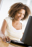 Teenage Girl Using Desktop Computer Royalty Free Stock Photo