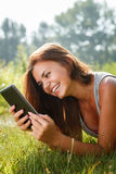 Teenage girl using tablet pc Royalty Free Stock Photo