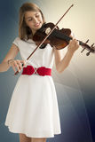 Teenage girl with viola Royalty Free Stock Photos