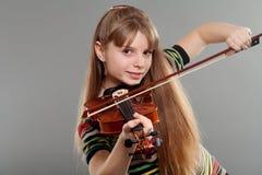 Teenage girl with violin stock photos