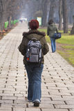 Teenage girl walking Stock Images