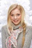 Teenage Girl Wearing Cap And Knitwear In Studio Stock Photography
