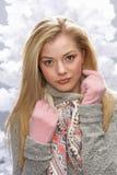 Teenage Girl Wearing Cap And Knitwear In Studio Stock Photos