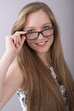 Teenage girl wearing spectacles Royalty Free Stock Image