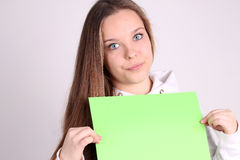 Teenage girl wearing sport clothes Stock Photography