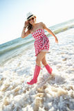 Teenage Girl Wearing Wellington Boots Stock Photos