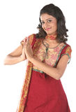 Teenage girl in welcoming pose Stock Photography