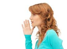 Teenage girl whispering gossip Royalty Free Stock Photo