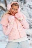 Teenage girl in winter Stock Image