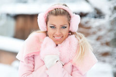 Teenage girl in winter Royalty Free Stock Photo