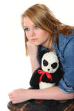 Teenage girl worried about leaving home Stock Photos