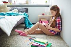 Teenage Girl Writing Diary Royalty Free Stock Image