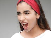 Teenage Girl Yelling Stock Photo