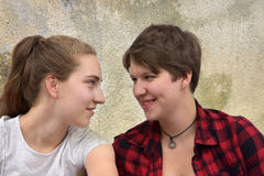 Teenage girllfriends Royalty Free Stock Photo