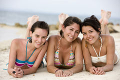 Teenage girls at the beach Royalty Free Stock Photo
