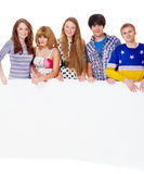 Teenage girls and boys Royalty Free Stock Photo
