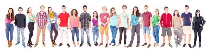 Teenage girls and boys Stock Photos