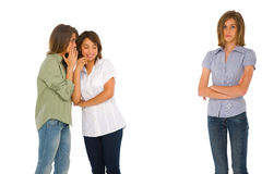 Teenage girls gossiping Royalty Free Stock Image