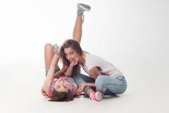 Teenage girls have fun Stock Photography