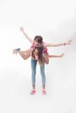 Teenage girls have fun Stock Photo