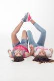 Teenage girls have fun Stock Images