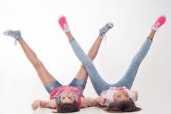 Teenage girls have fun Stock Image