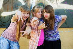 Teenage girls having a fun Stock Photo