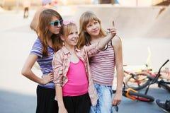 Teenage girls having fun Royalty Free Stock Image