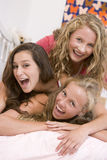 Teenage Girls Having Fun Stock Photo