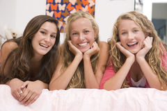 Teenage Girls Having Fun Stock Photo