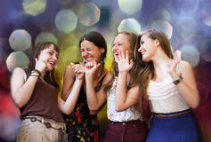 Teenage girls. Having fun at the party Stock Images