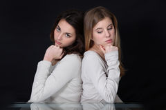 Girls having a quarrel Royalty Free Stock Images