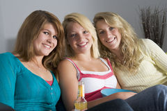 Teenage Girls At Home Stock Image