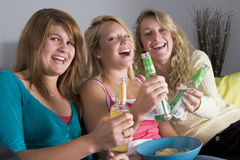 Teenage Girls At Home Stock Images