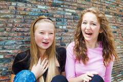 Teenage girls laughing Royalty Free Stock Image