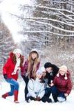 Teenage girls laughing Stock Photos