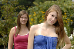 Teenage girls outdoors Stock Image