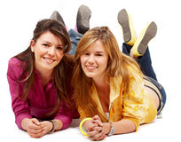 Teenage girls smiling Royalty Free Stock Images