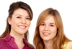 Teenage girls smiling Royalty Free Stock Photos