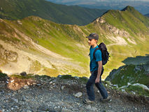 Teenage hiker Stock Image