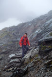 Teenage hiker on mountain Royalty Free Stock Photography