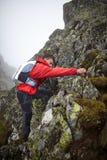 Teenage hiker on mountain Stock Photos
