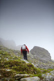 Teenage hiker on mountain Royalty Free Stock Image