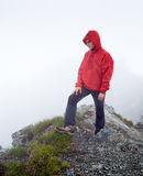Teenage hiker on mountain Stock Image