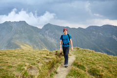Teenage hiker on a trail Stock Photos