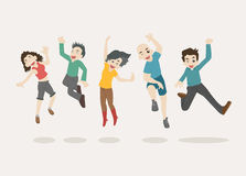 Teenage jumping Stock Images