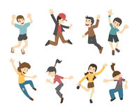 Teenage jumping Royalty Free Stock Images